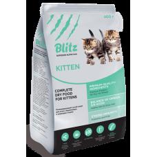 BLITZ KITTEN (Блиц Киттэн) - корм для котят, беременных и кормящих кошек всех пород