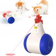 Интерактивная игрушка для кошек курица с лазером