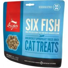 ORIJEN FD SIX FISH CAT (ОРИДЖЕН ШЕСТЬ ВИДОВ РЫБ КЭТ) - лакомство для кошек всех пород и возрастов, 35г